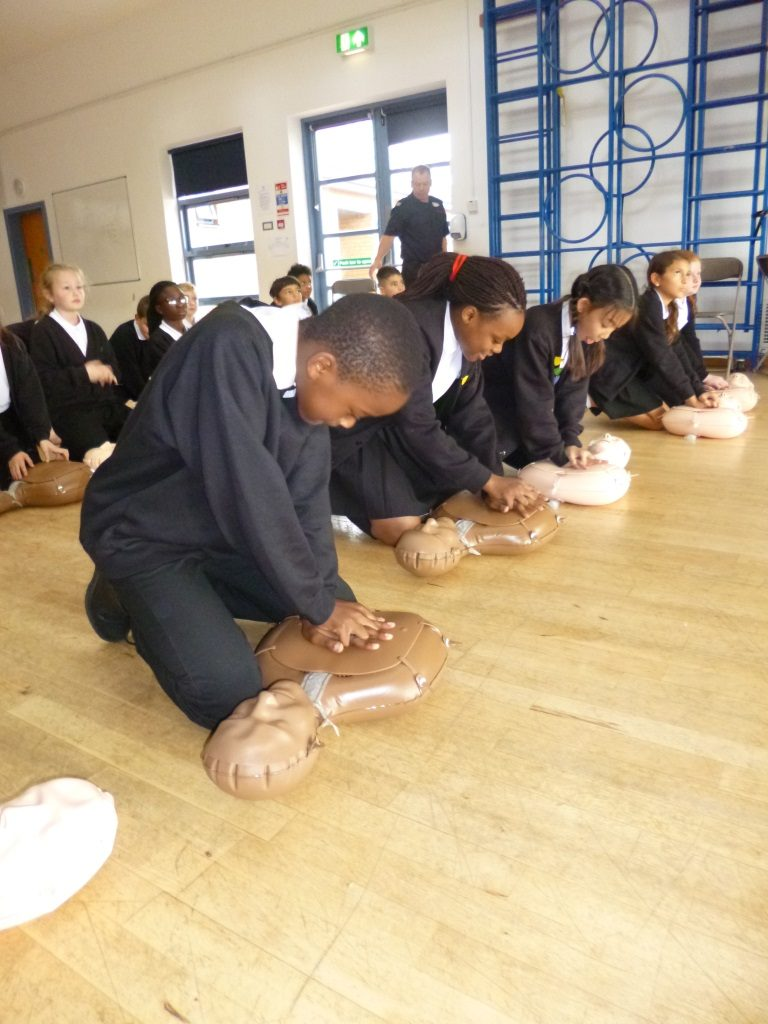 6RR CPR training 5 - Emerson Valley School